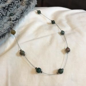 4/$25!🌟 Fine wire beaded necklace in earth tones